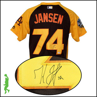 Kenley Jansen Autograph Signed 2016 All-Star Baseball Jersey Psa/dna Dodgers Coa