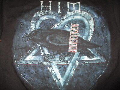 Hot Topic Finnish Rock Band HiM (MED) T-Shirt w/ Tags