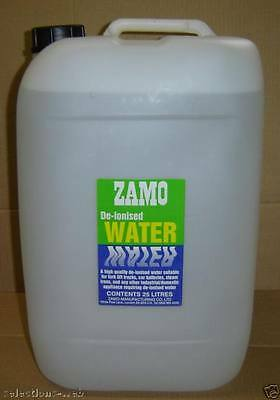 25 Litre De-ionised Water Top Up Water For Forklift Batteries Steam Irons 25L