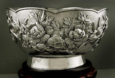 Japanese Sterling Bowl    HAND WROUGHT                     WEIGHS    42 OUNCES