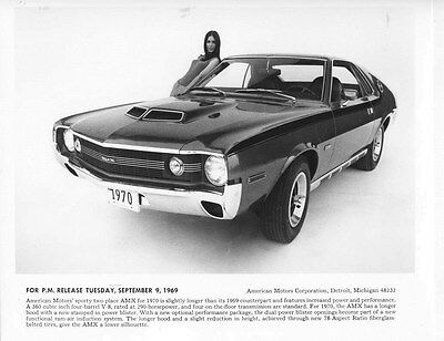 1969 AMC Javelin AMX ORIGINAL Factory Photo oub5546