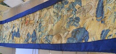 """other Aubusson valance fragment  French antique tapestry 17th-century 110 """" x 21"""