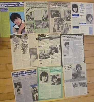 Robby Benson, Lot of TEN Full Page Vintage Clippings, 11