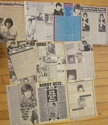 Robby Benson, Lot of TEN Full Page Vintage Clippings, 9