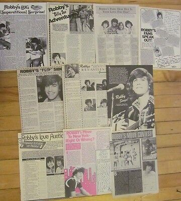 Robby Benson, Lot of TEN Full Page Vintage Clippings, 1