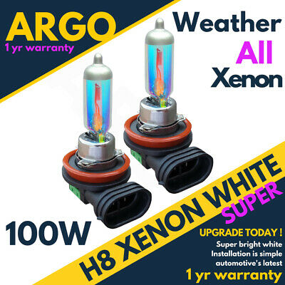 Bmw E92 Coupe H8 100w 8500k Angel Eyes Halogen Bulbs Xenon White Upgrade