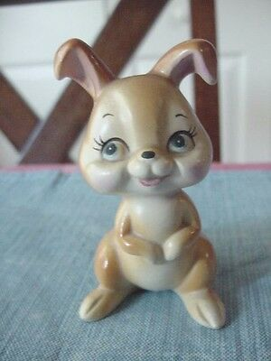 Vintage~Adorable HAPPY ANIMAL Bunny RABBIT Figure~ Figurine~ Made In Japan