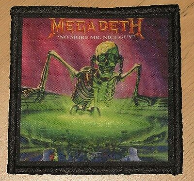 """MEGADETH """"NO MORE MR. NICE GUY"""" silk screen PATCH"""