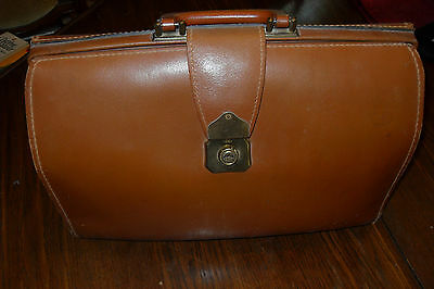 Vintage  CHENEY Leather Bag - Doctors Lawyers Suitcase-Briefcase