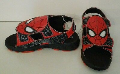 New Nwt Marvel Spider-man Light Up Shoes Sandals Size 13