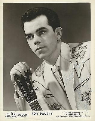 Roy Drusky 2 8x10 Signed Photos DECCA - Grand Ole Opry