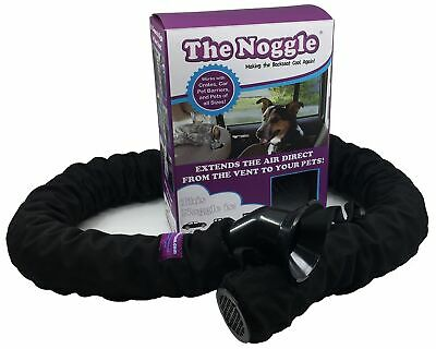 The Pet Noggle- Extend Air Conditioning or Heat to Your Dog- 6ft, Black Ice