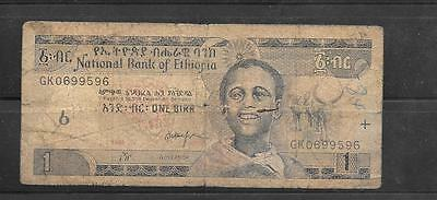 ETHIOPIA #46d 1998 VG USED OLD BIRR BANKNOTE PAPER MONEY CURRENCY BILL NOTE