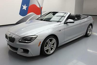 2016 BMW 6-Series Base Convertible 2-Door 2016 BMW 640I CONVERTIBLE M SPORT LEATHER NAV HUD 18K #T83240 Texas Direct Auto