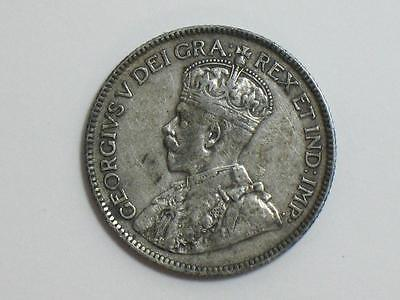 1929 Canada 25 Cents - Canadian Silver Quarter - World Coinage George V
