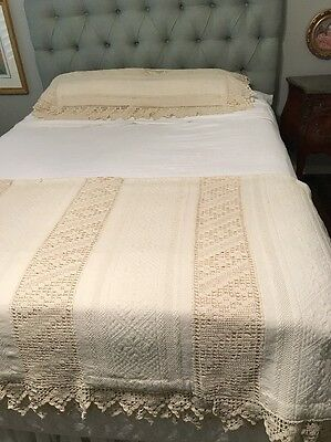 Antique Crochet Edge Bed Cover