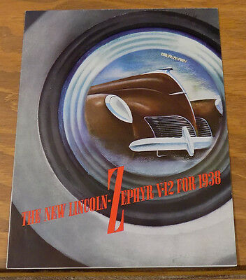 1938 Vehicle Brochure///LINCOLN-ZEPHYR AUTOMOBILE///b