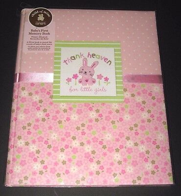 Carters Child Of Mine Thank Heaven For Little Girls Baby Memory Record Book