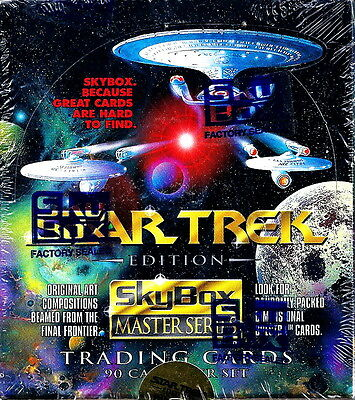 1993 Full 36 Pack Wax Box SKYBOX STAR TREK MASTER SERIES Trading Cards MINT!!!
