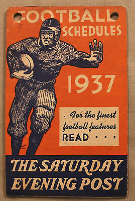Original 1937 NCAA and NFL Schedule