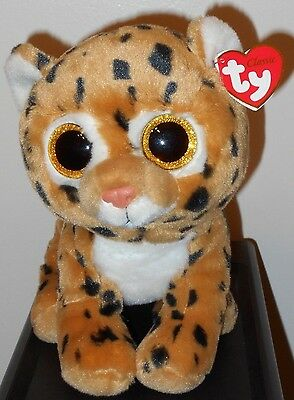 "Ty Classic Plush ~ FRECKLES the Leopard (13"" Medium Buddy Size) ~ NEW ~ MWMT'S"