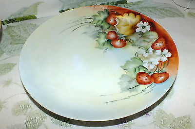 TITANIC AUSTRIA porcelain STRAWBERRIES hand painted PLATE  EXC