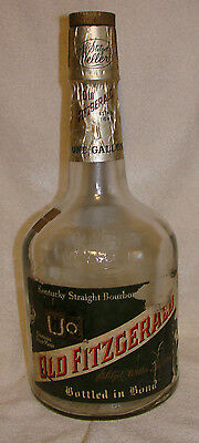 "Old Fitzgerald 1 Gallon Bottle Only Stitzel Weller 6 Year Old 1969 Huge 17"" Tall"