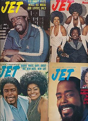 LOT of (4)BARRY WHITE JET MAGAZINES 8/20/1974 4/10/1975 12/22/1977 1991 NO LABEL