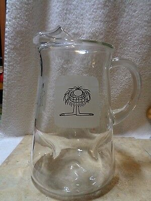 Vintage Arby's B.c. Ice Age Clear Water Pitcher Johnny Hart Caveman
