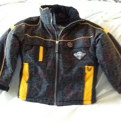 Boys Obermeyer 1947 Pilot I-Grow Winter Jacket Size 5 with Airplane Graphics