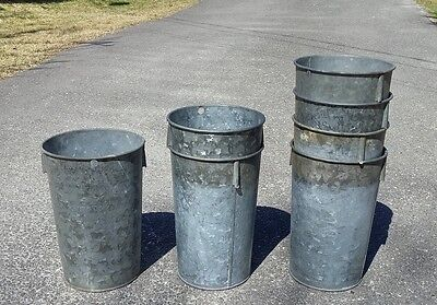 LOT of 12 NICE Vintage GALVANIZED OLD Sap Buckets Maple Syrup + PATINA