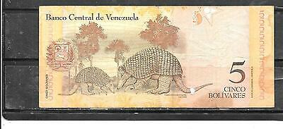 Venezuela 2011 5 Bolivares Vg Circulated Banknote Paper Money Currency Bill Note