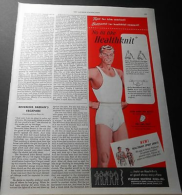 1950 Healthknit Men's Underwear Vintage Print Advert