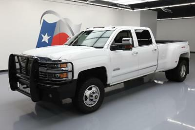 2015 Chevrolet Silverado 3500 High Country Crew Cab Pickup 4-Door 2015 CHEVY SILVERADO 3500 HIGH COUNTRY 4X4 DIESEL NAV #517765 Texas Direct Auto