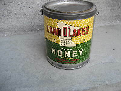 RARE Vintage Land O'Lakes Honey 5 LB Pail Can