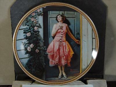 Norman Rockwell Collector Plate: Standing In The Doorway w/Coa and O/G Box