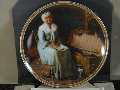 Norman Rockwell Collector Plate: Reminiscing In The Quiet w/Coa and O/G Box