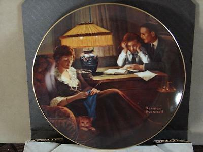 Norman Rockwell Collector Plate: Father's Help w/Coa and O/G Box