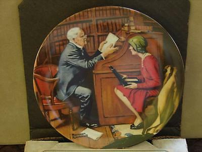 Norman Rockwell Collector Plate: The Professor w/Coa and O/G Box
