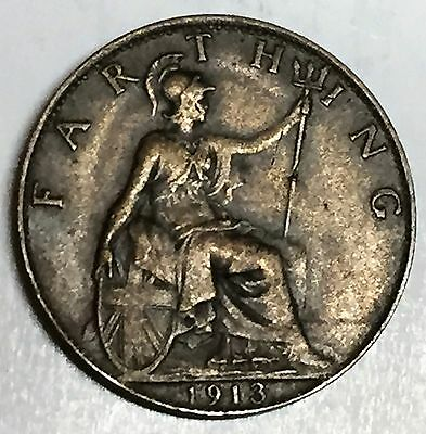 C3698    Great  Britain   Coin,    Farthing       1913