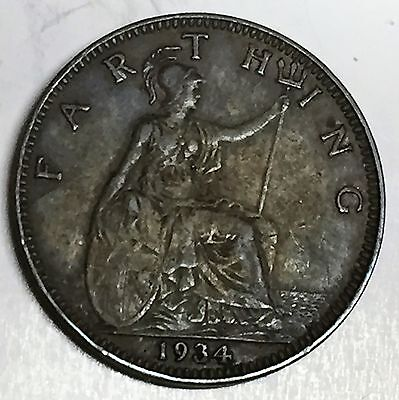 C3700    Great  Britain   Coin,    Farthing       1934