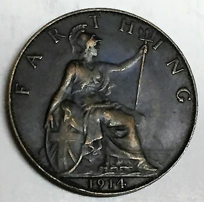C3697    Great  Britain   Coin,    Farthing       1914