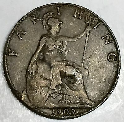 C3701    Great  Britain   Coin,    Farthing       1909