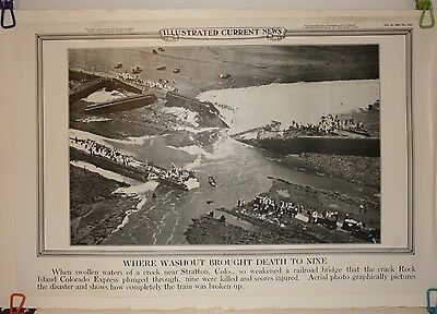 Ill'd Current News Photo Railroad Flood Disaster  Stratton Colo 1929 Rock Island
