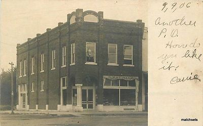 1906 Baxter Springs Post Office Skinner Store KANSAS RPPC real photo 3908