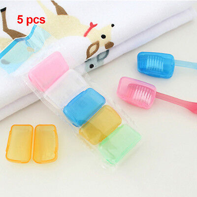 5PCS Germ Proof Travel Camping Toothbrush Head Covers Case Brush Cap Protector
