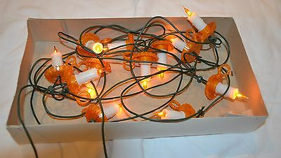 [1 set of 10 lights] Santas World Christmas Italian Miniature Lights - CANDLES