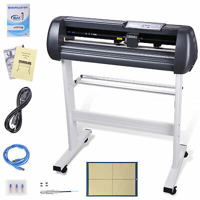 "28"" Vinyl Cutter Sign Plotter Cutting w/ Signmaster Cut Basic Software 3 Blades"