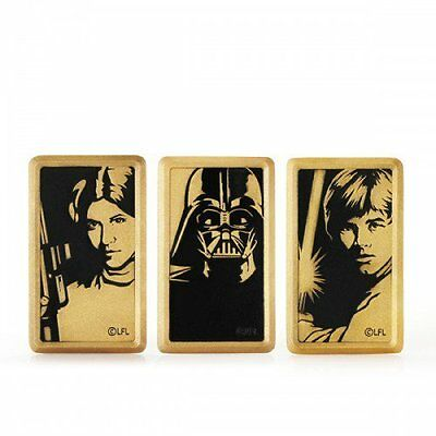 Star Wars Royal Selangor Limited Edition Gold Plated Tokens - Vader, Leia, Luke