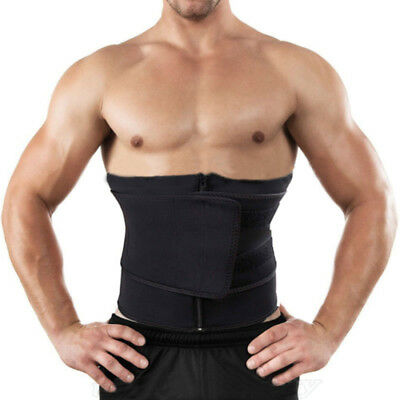 Men Women Neoprene Waist Belt Sweat Waist Trainer Trimmer Belt Body Shaper Ziper